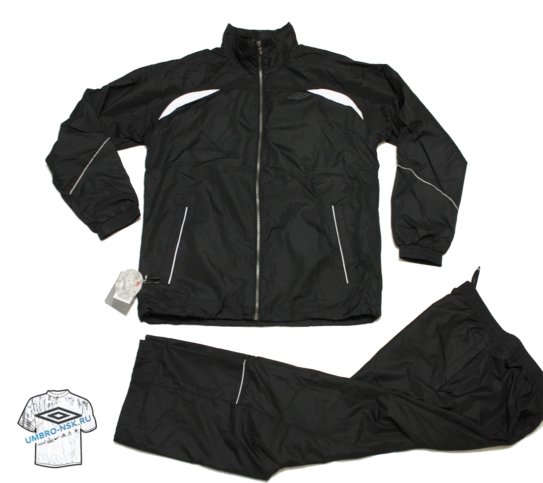 Чёрный спортивный костюм Umbro Wilson Lined Suit 102500-060