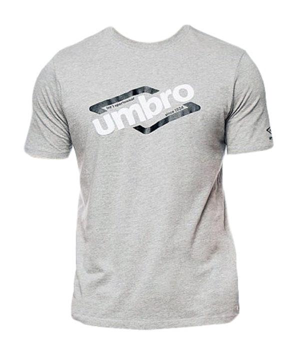 Серая футболка Umbro Graphic Tee 64101U