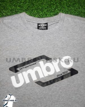 Серая футболка Umbro Graphic Tee 64101U