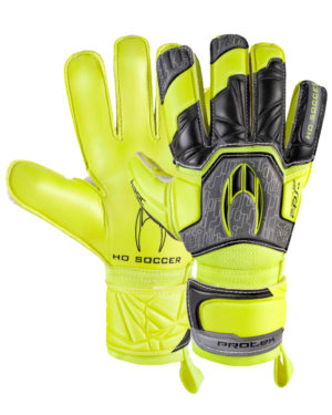 Перчатки HO Soccer Basic Protek Flat Power Lime 051.0717 (с защитой)