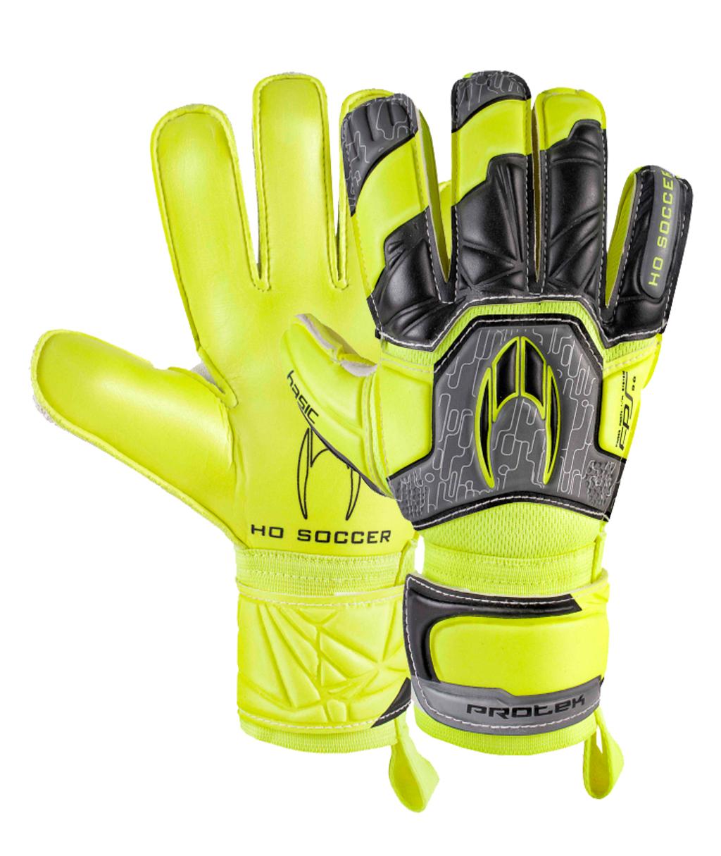 Перчатки вратарские HO Soccer BASIC PROTEK FLAT POWER LIME 051.0717