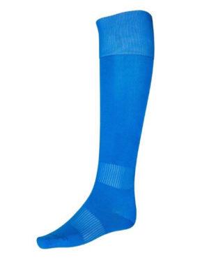 Синие гетры футбольные с хлопковым носком