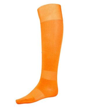 Оранжевые гетры футбольные с хлопковым носком