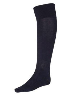 Тёмно-синие гетры футбольные с хлопковым носком