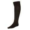 Чёрные гетры футбольные с хлопковым носком
