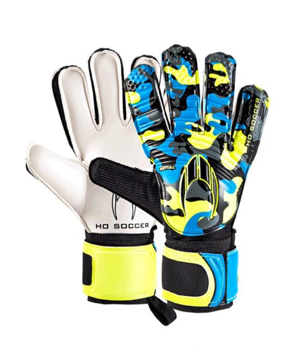 Детские вратарские перчатки HO Soccer Initial Flat Blue 051.0819