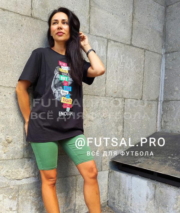 Футболка Kelme Camiseta M/C 79246 чёрная с принтом
