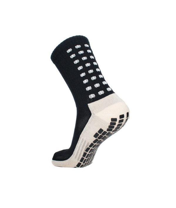 Чёрные футбольные носки – противоскользящие
