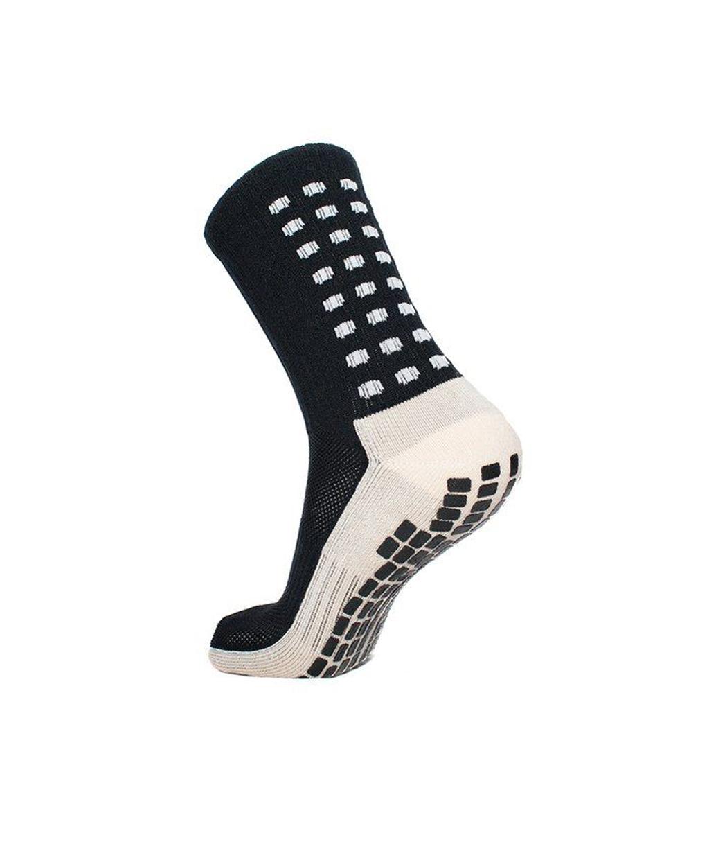 Купить чёрные футбольные носки – противоскользящие