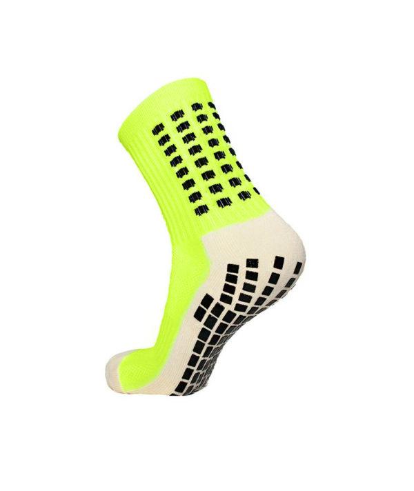 Салатовые футбольные носки – противоскользящие