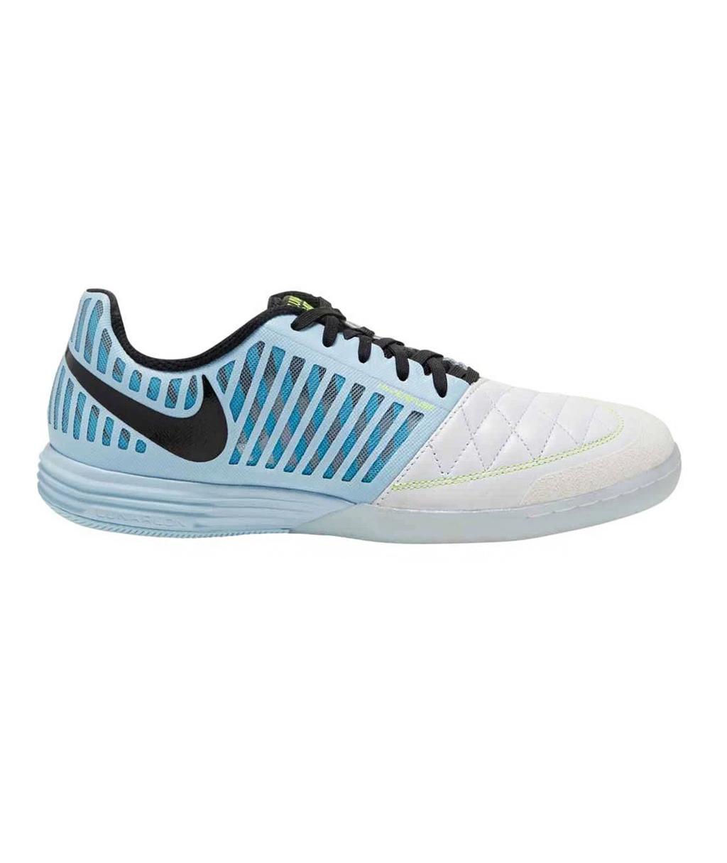 Купить голубые футзалки Nike FC247 Lunargato II 580456 в магазине
