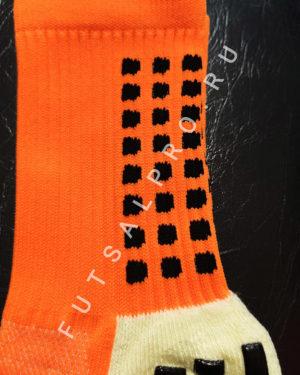 Оранжевые футбольные носки – противоскользящие
