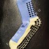Светло-синие футбольные носки – противоскользящие