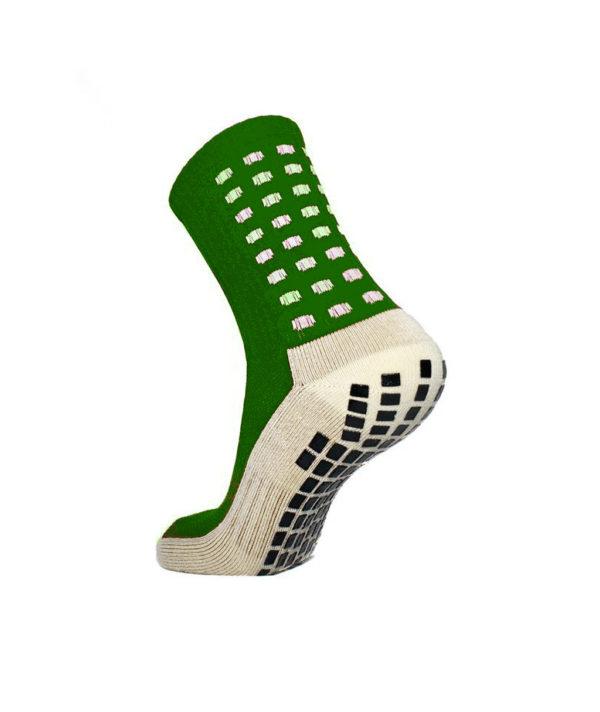 Зелёные футбольные носки – противоскользящие