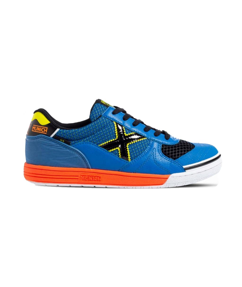 Купить футзалки Munich G-3 Indoor 3111202 синие в интернет-магазине