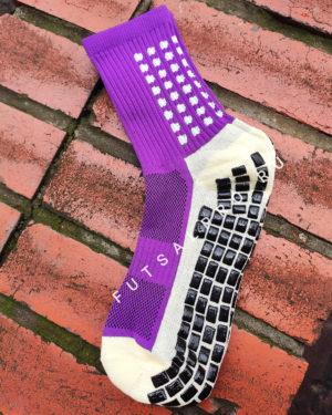 Фиолетовые футбольные носки – противоскользящие
